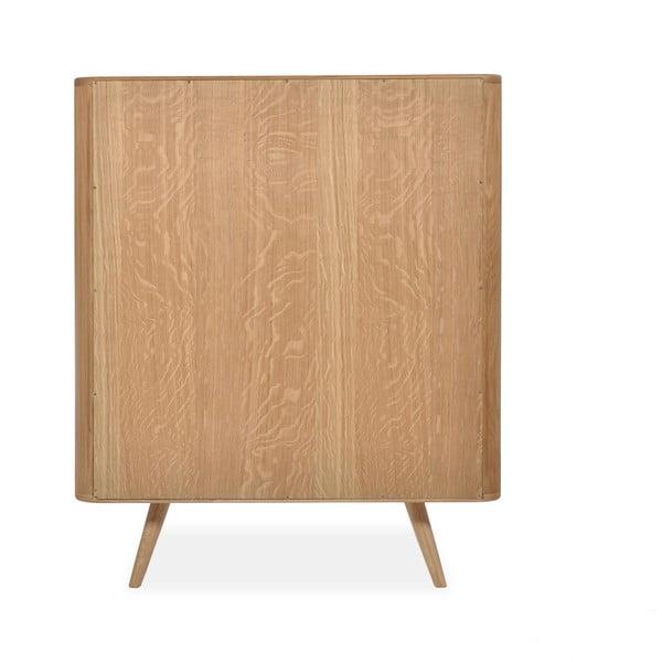 Skříň z dubového dřeva Gazzda Ena,90x110cm