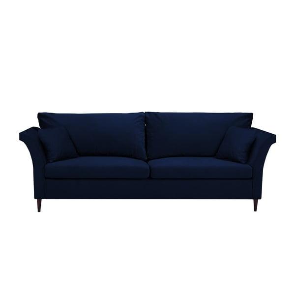 Modrá rozkládací třímístná pohovka súložným prostorem Mazzini Sofas Pivoine