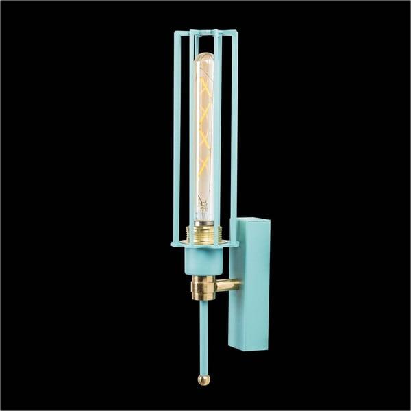 Bledě modrá nástěnná lampa Single