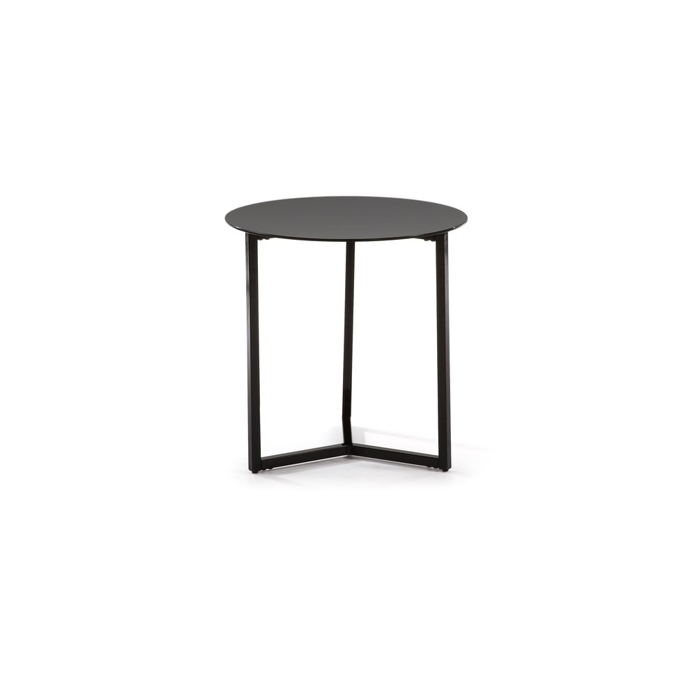 Černý odkládací stolek La Forma Marae, ⌀ 50 cm