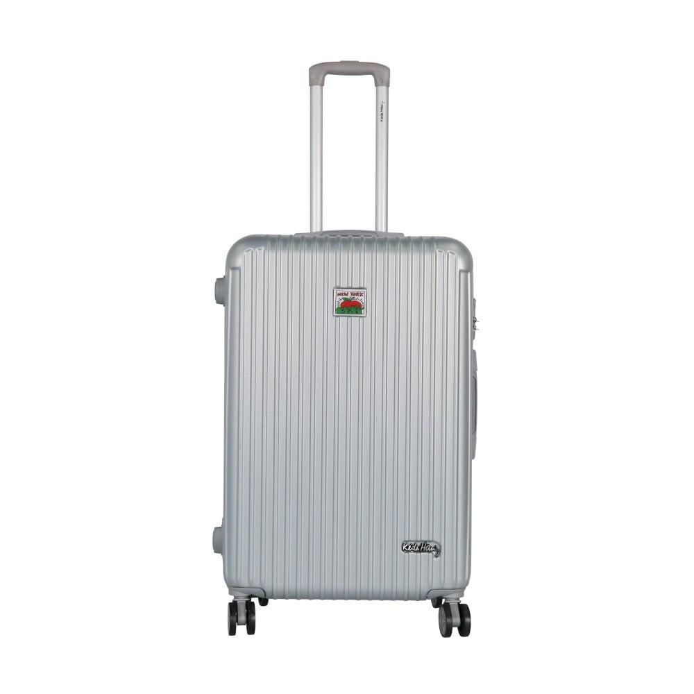 Šedý cestovní kufr LULU CASTAGNETTE Darwin, 107l