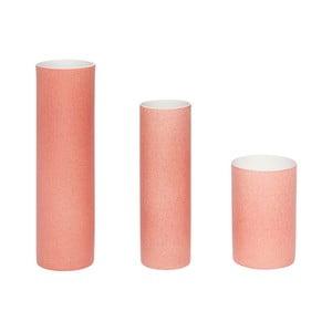Sada 3 růžových váz Hübsch Tycho