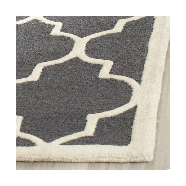 Vlněný koberec Safavieh Everly 91x152 cm, tmavě šedý