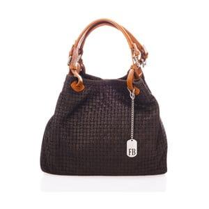 Černá kabelka z pravé kůže Federica Bassi Trish