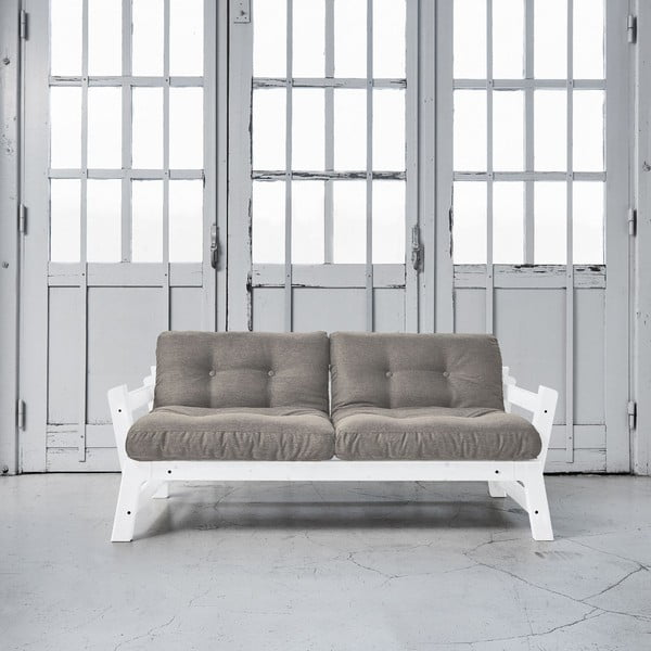 Rozkládací pohovka Karup Step White/Granite Grey
