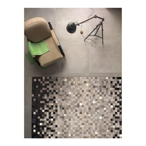 Kožený koberec Rain Grey, 170x240 cm