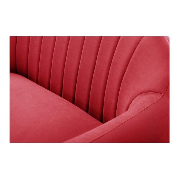 Canapea pentru 3 persoane Comete Stripes, roșu