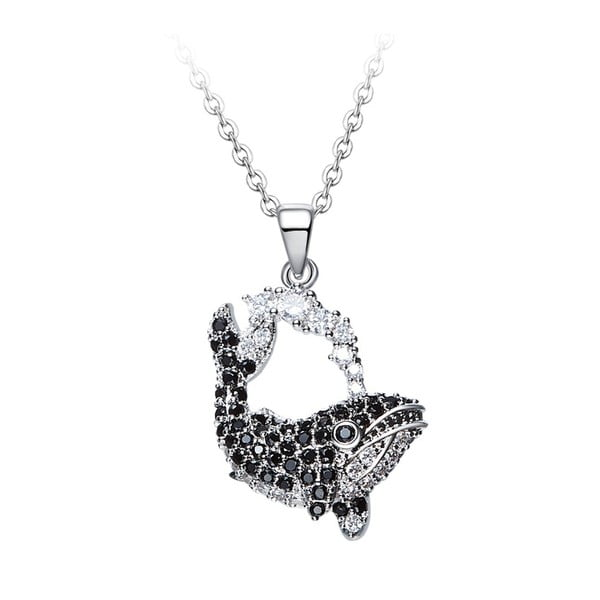 Náhrdelník s krystaly Swarovski Elements Crystals Whale
