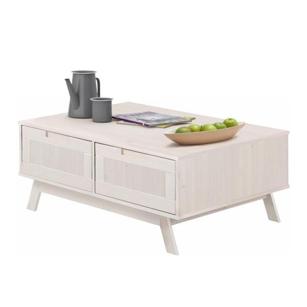 Bílý dřevěný konferenční stolek Støraa Olly