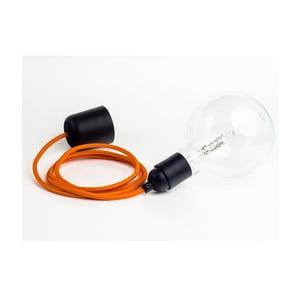Barevný kabel Loft se žárovkou, pomeranč