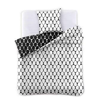 Lenjerie din microfibră cu 2 fețe pentru pat de o persoană DecoKing Hypnosis Rhombuses, 200 x 137 cm de la DecoKing