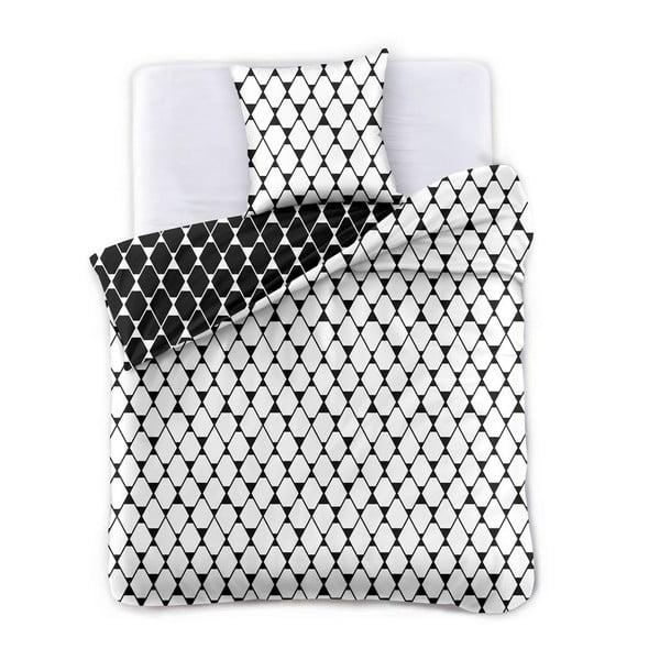 Lenjerie din microfibră cu 2 fețe pentru pat de o persoană DecoKing Hypnosis Rhombuses, 200 x 137 cm