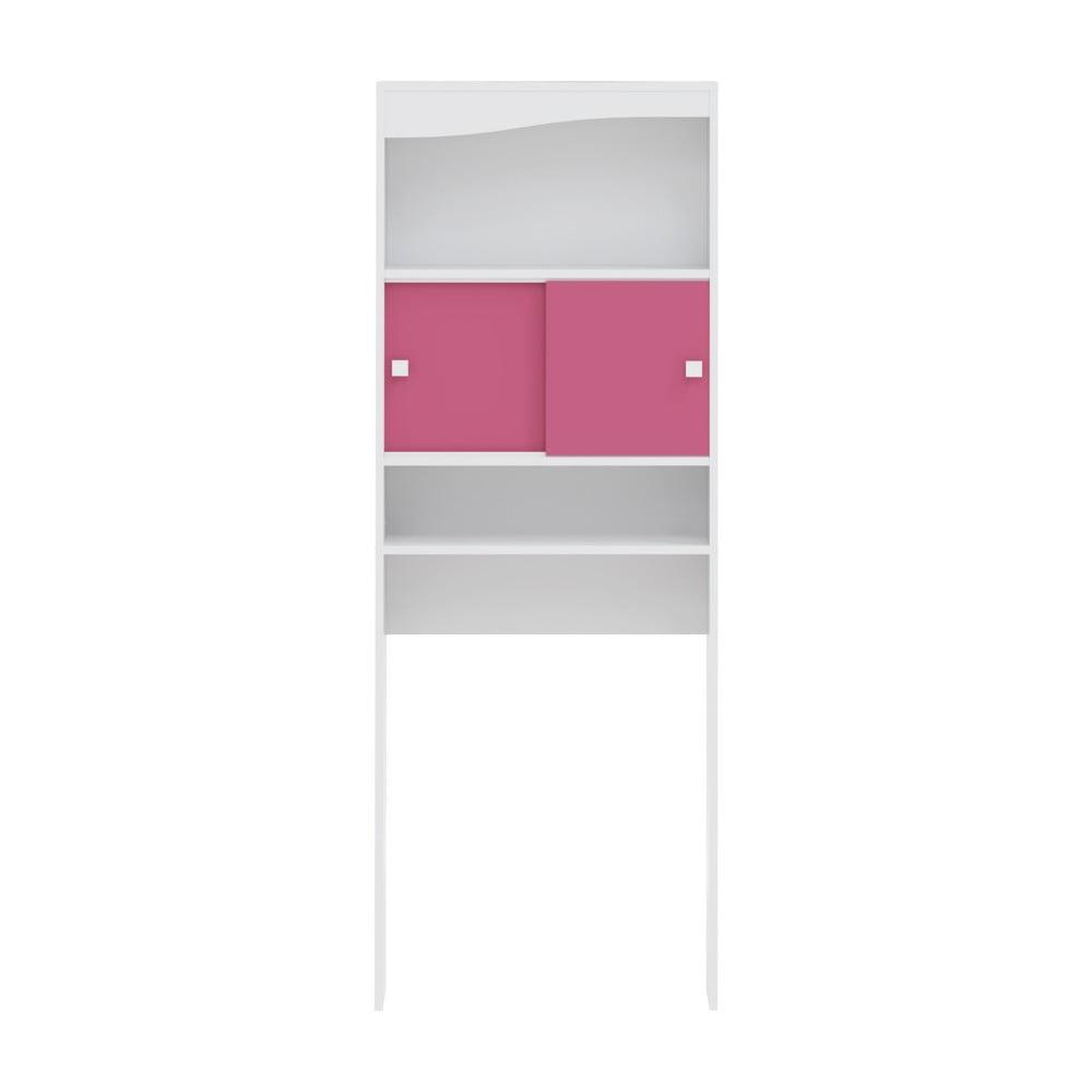 Růžová koupelnová skříňka nad pračku Symbiosis André, šířka 60 cm