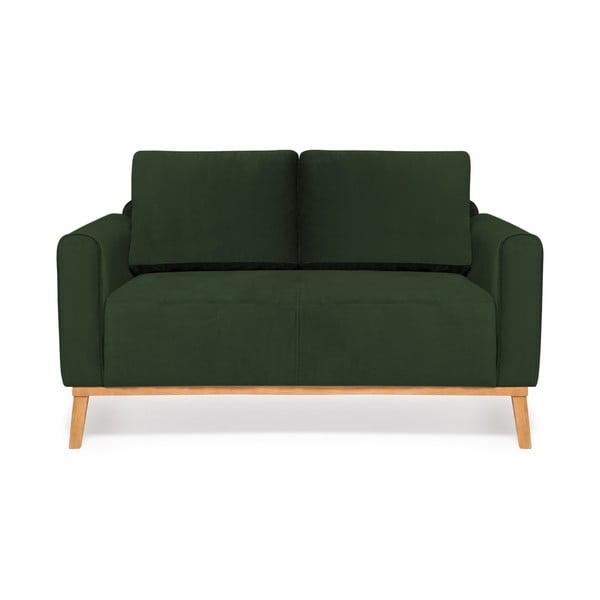 Tmavozelená dvojmiestna sedačka Vivonita Milton Trend
