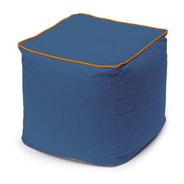 Sedací puf Bicolor, modrý