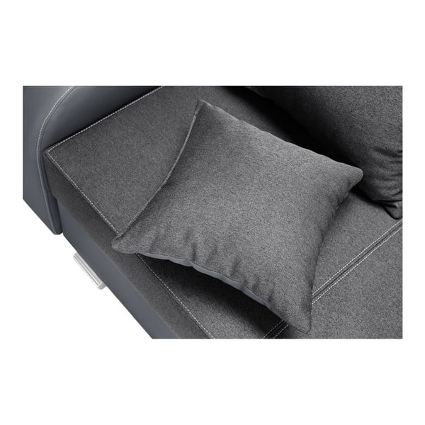 Antracitová sedačka Interieur De Famille Paris Destin, levý roh