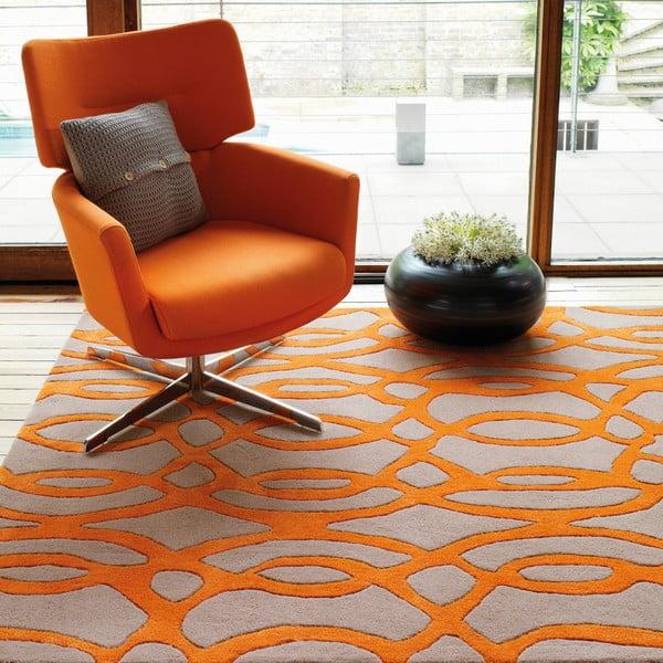 Vlněný koberec Wire Orange 200x300 cm