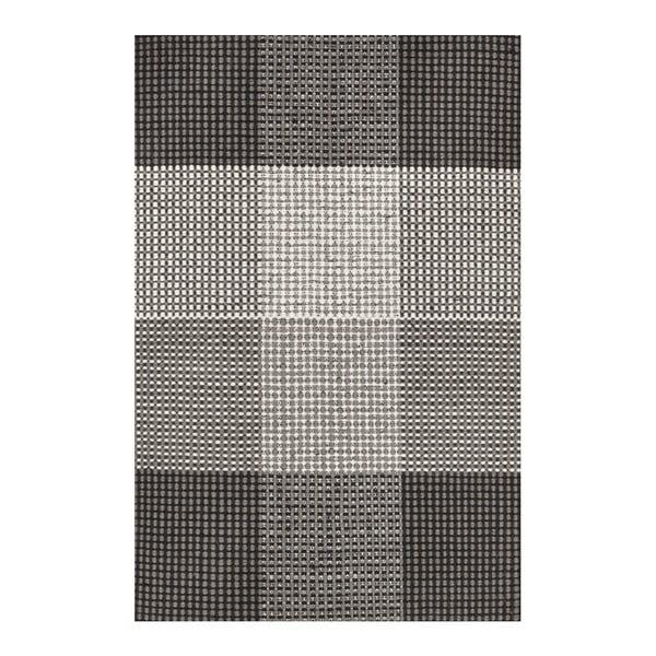 Šedý ručně tkaný vlněný koberec Linie Design Genova, 50x80cm