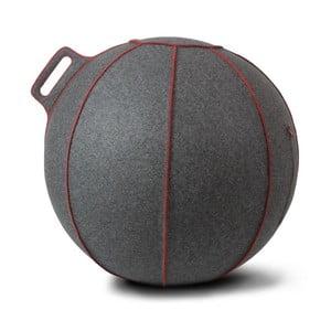 Šedý plstěný sedací míč VLUV, 65 cm