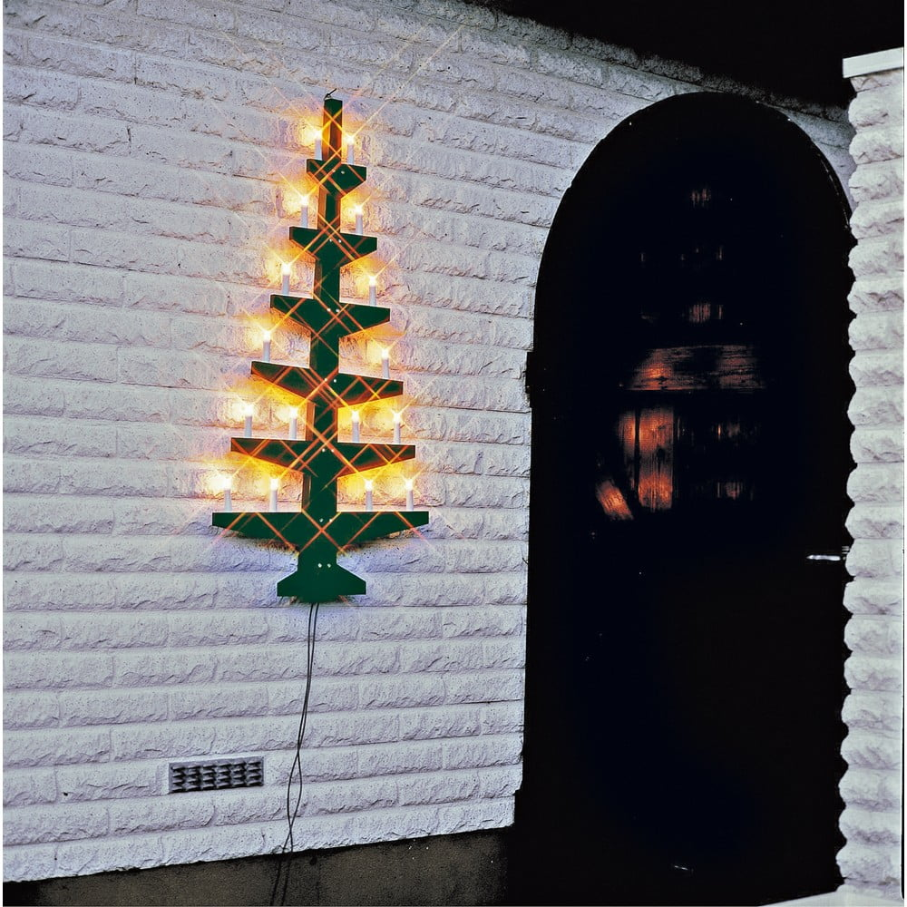 Zelená nástěnná svítící dekorace Best Season Wall Tree