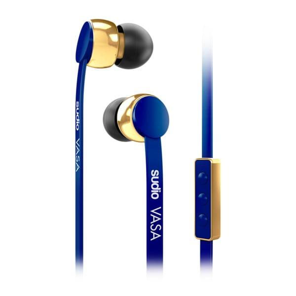 Modrá sluchátka Sudio VASA pro Android