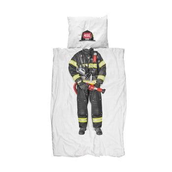 Lenjerie de pat de o persoană, din bumbac Snurk Firefighter, 140 x 200 cm de la Snurk