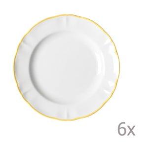Sada 6 dezertních talířů Parisienne Giallo