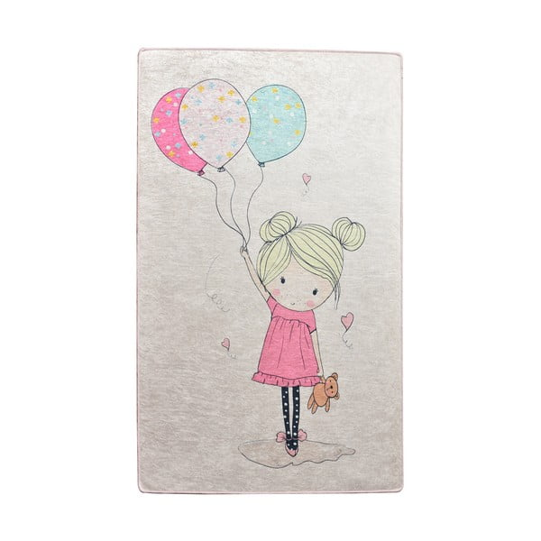 Dětský protiskluzový koberec Chilai Little Girl,100x160cm