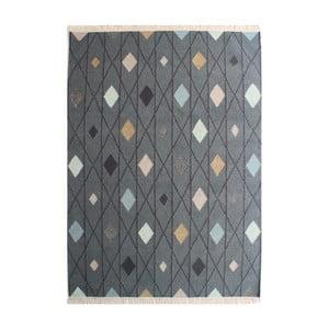 Světle šedý ručně tkaný vlněný koberec Linie Design Marsala, 140x200cm