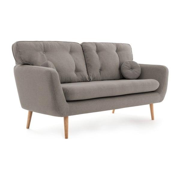 Szara sofa 3-osobowa z poduszką VIVONITA Malva