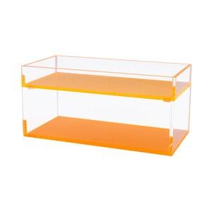 Sada 2 úložných boxů s oranžovým dnem Lund London Flash Blocco