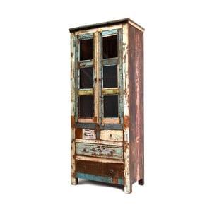 Dřevěná vitrína Goa, 210 cm