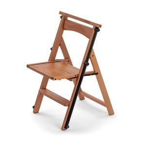 Skládací židle a schůdky v jednom z bukového dřeva Arredamenti Italia Eletta