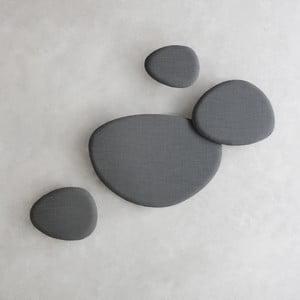 Sada 4 tmavě šedých akustických panelů Stua Satellite