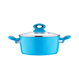 Hrnec s pokličkou Fix Line 20 cm, světle modrá