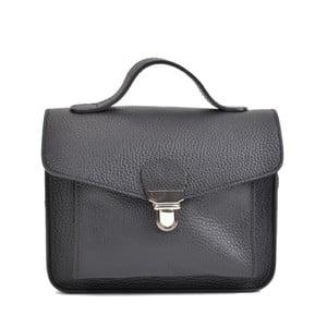 Černá kožená kabelka Mangotti Bags Cristina