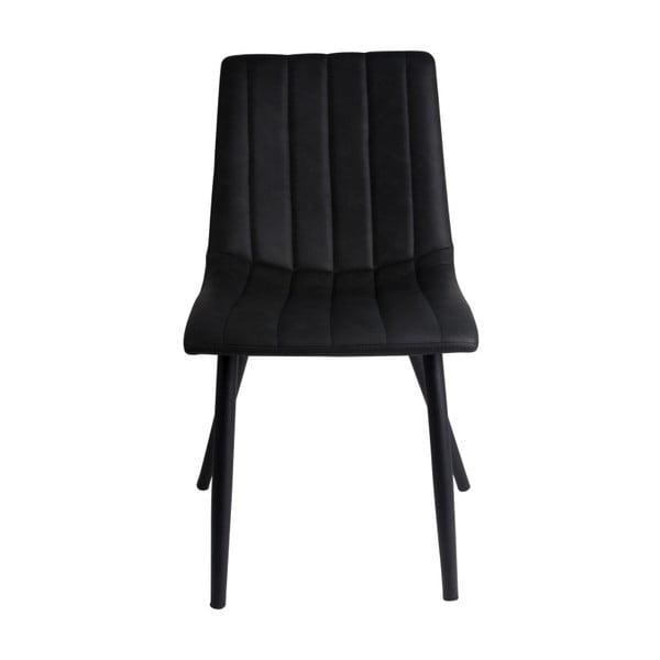 Černá jídelní židle Leitmotiv Raw