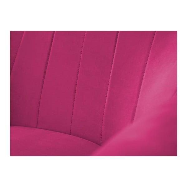 Růžové křeslo Mazzini Sofas Benito