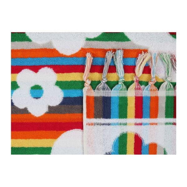 Barevná plážová osuška z bavlny New Yoork, 70 x 140