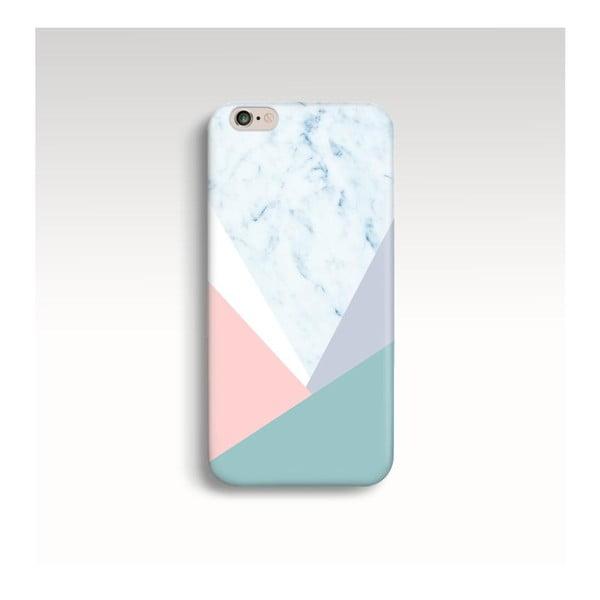 Obal na telefon Marble Pastel Triangle pro iPhone 6/6S