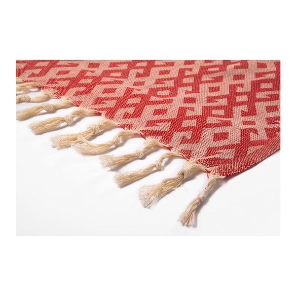 Prosop hammam Orient Red, 95x175 cm