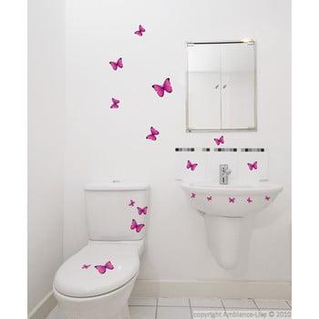 Set 18 autocolante Fanastick Pink Butterflies