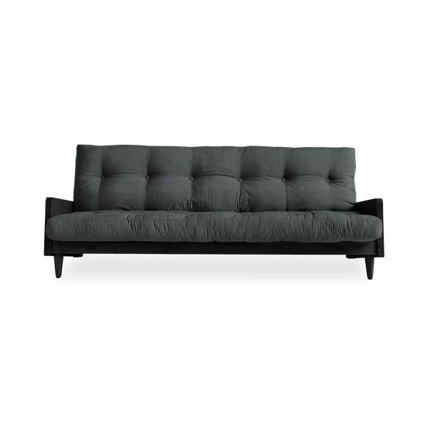 Rozkladacia pohovka s tmavosivým poťahom Karup Design Indie Black/Slate Grey