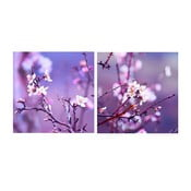 Set obrazů na skle Jaro, 20x20 cm, 2 ks