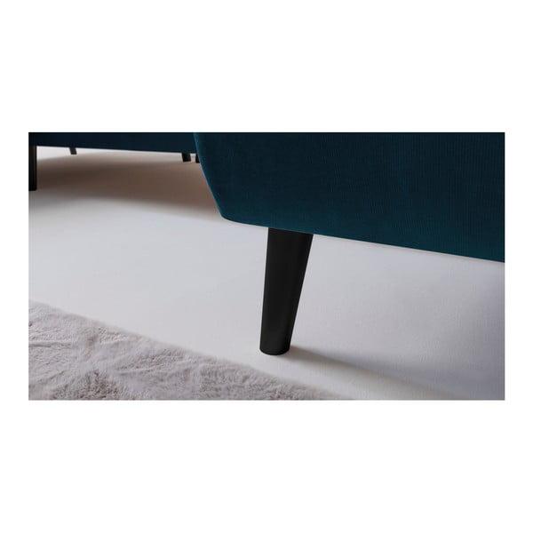 Modrá rozkládací pohovka Bobochic Paris Hera, levý roh