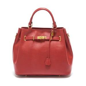 Červená kožená kabelka Isabella Rhea no. 183