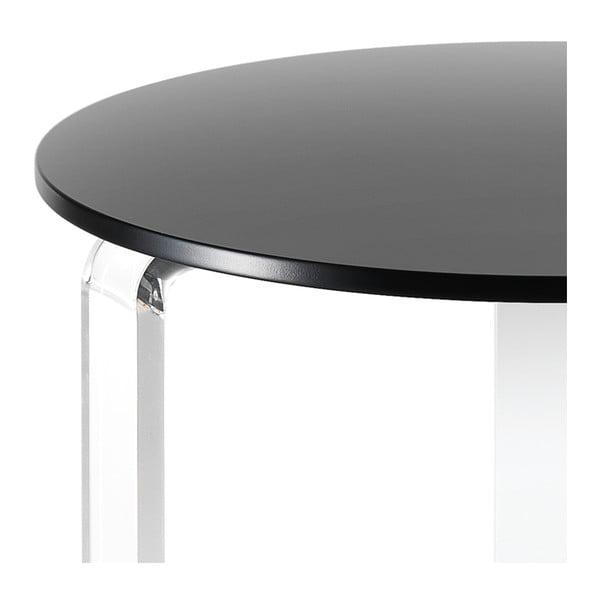 Černý konfereční stolek Tomasucci Poole, Ø48cm