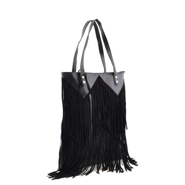 Kožená kabelka Michelle, černá