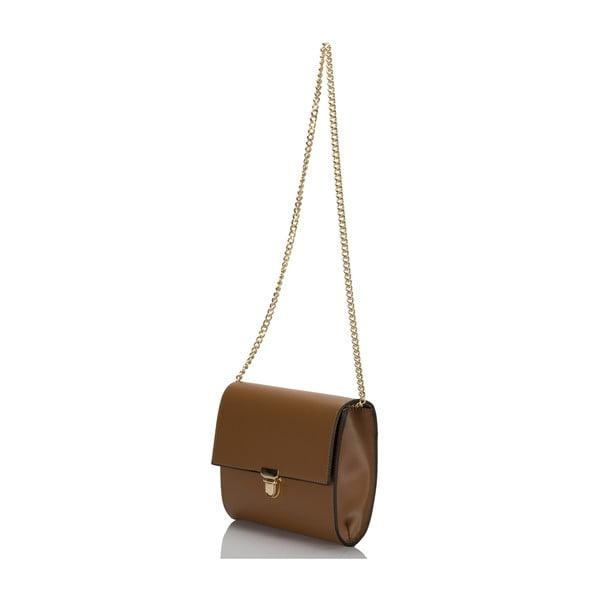 Koňakově hnědá kožená kabelka Massimo Castelli Anys