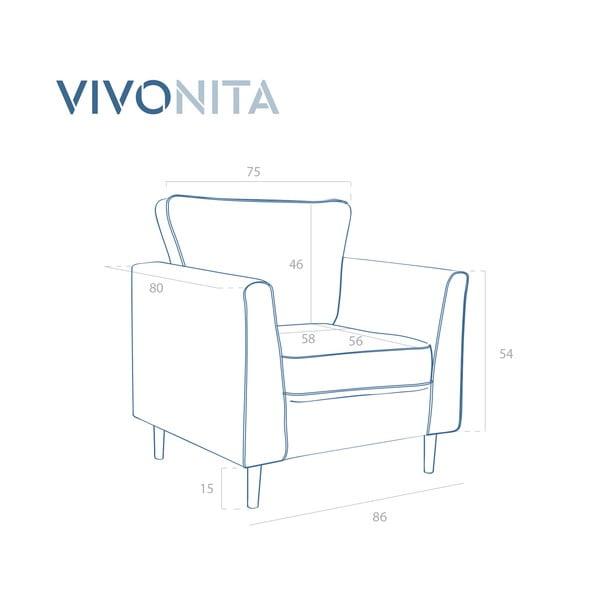 Fotoliu Vivonita Portobello, albastru închis